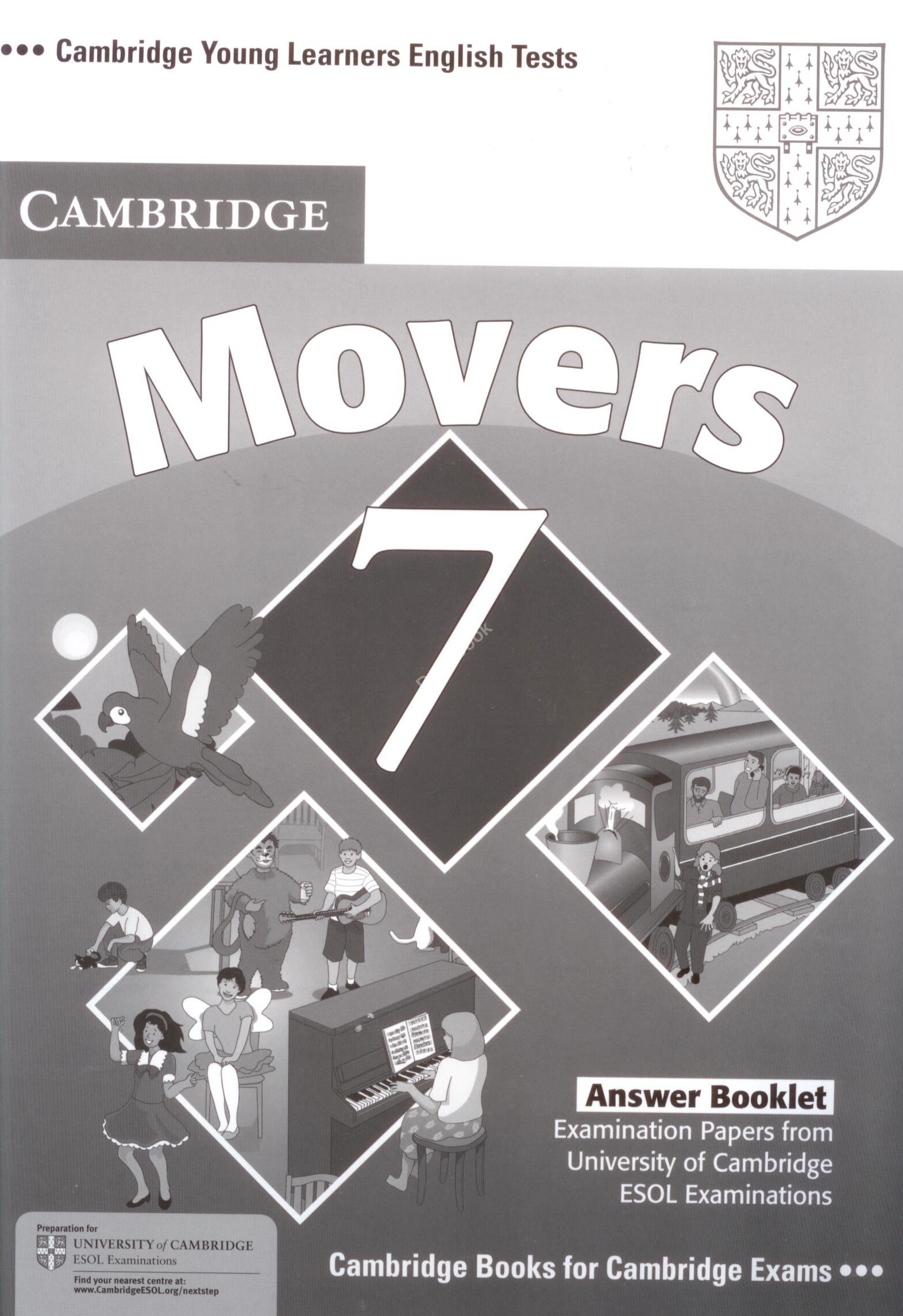 Cambridge Young Learners English Tests Movers 7 Answer booklet  Ответы к учебнику