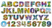 Illustrated Alphabet and Numbers Bulletin Board Set (36 cards)