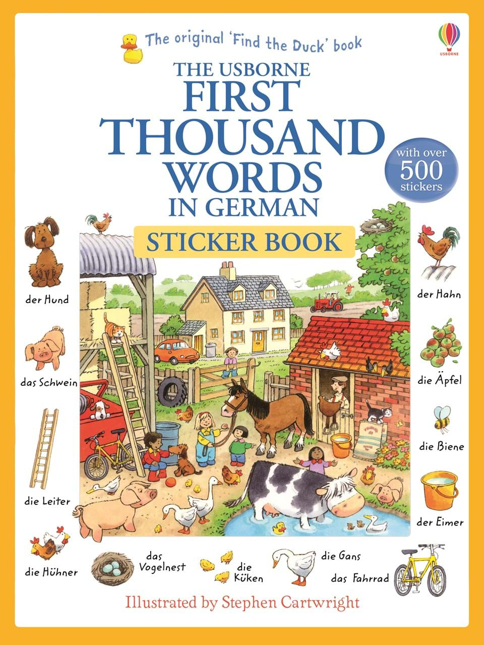 First thousand words in German Sticker Book  Стикербук