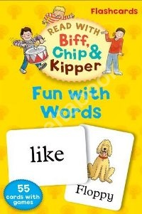 Read With Biff, Chip, and Kipper: Fun With Words Flashcards (55 cards)
