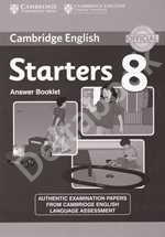 Cambridge Young Learners English Tests Starters 8 Answer booklet   Ответы к учебнику