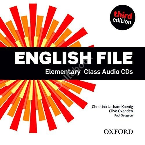 Third Edition English File Elementary Class Audio CDs  Аудиодиски