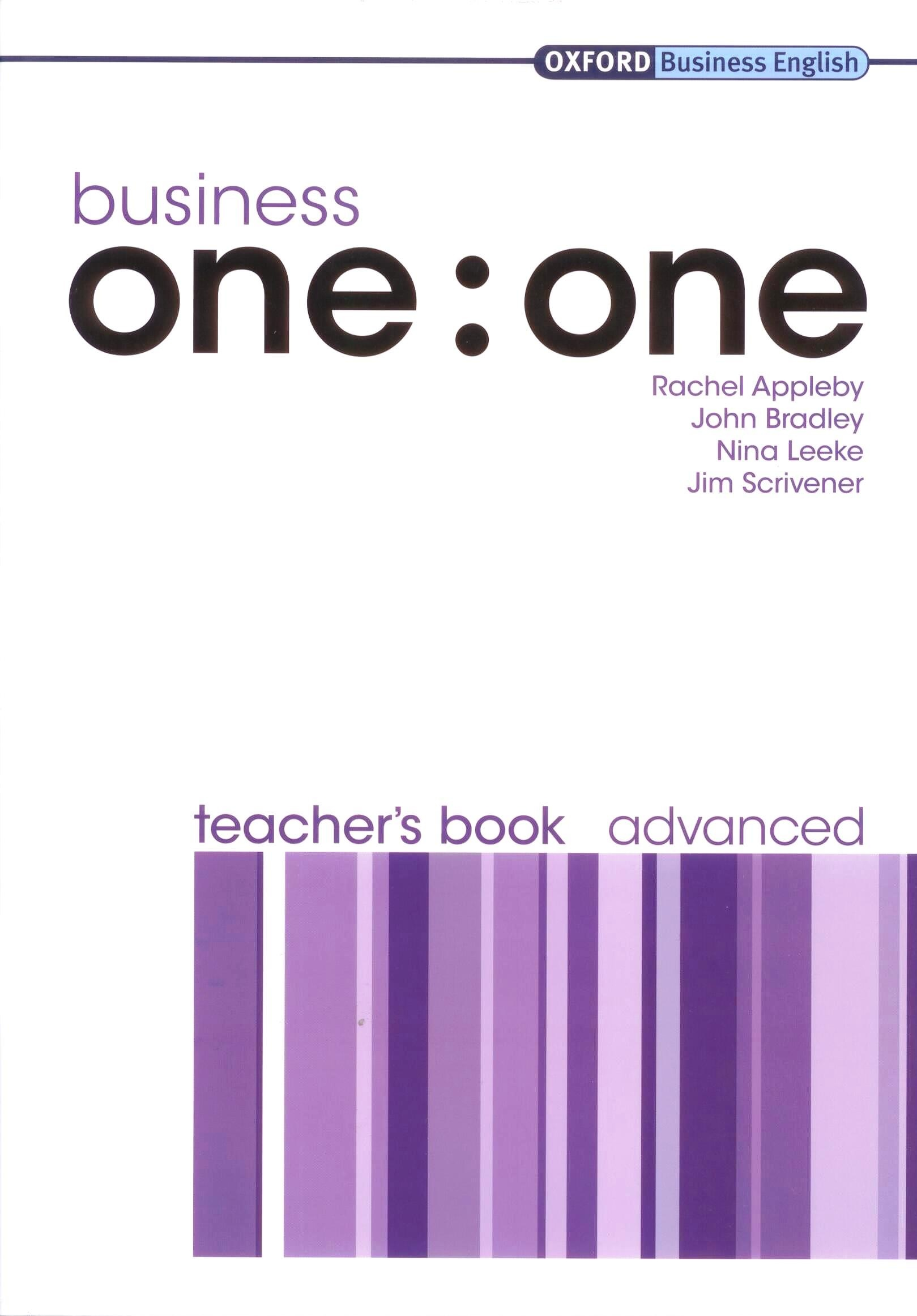 Business One : One Advanced Teacher's Book   Книга для учителя