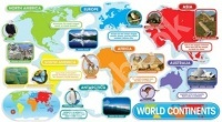 World Continents Bulletin Board Set (37 pieces)