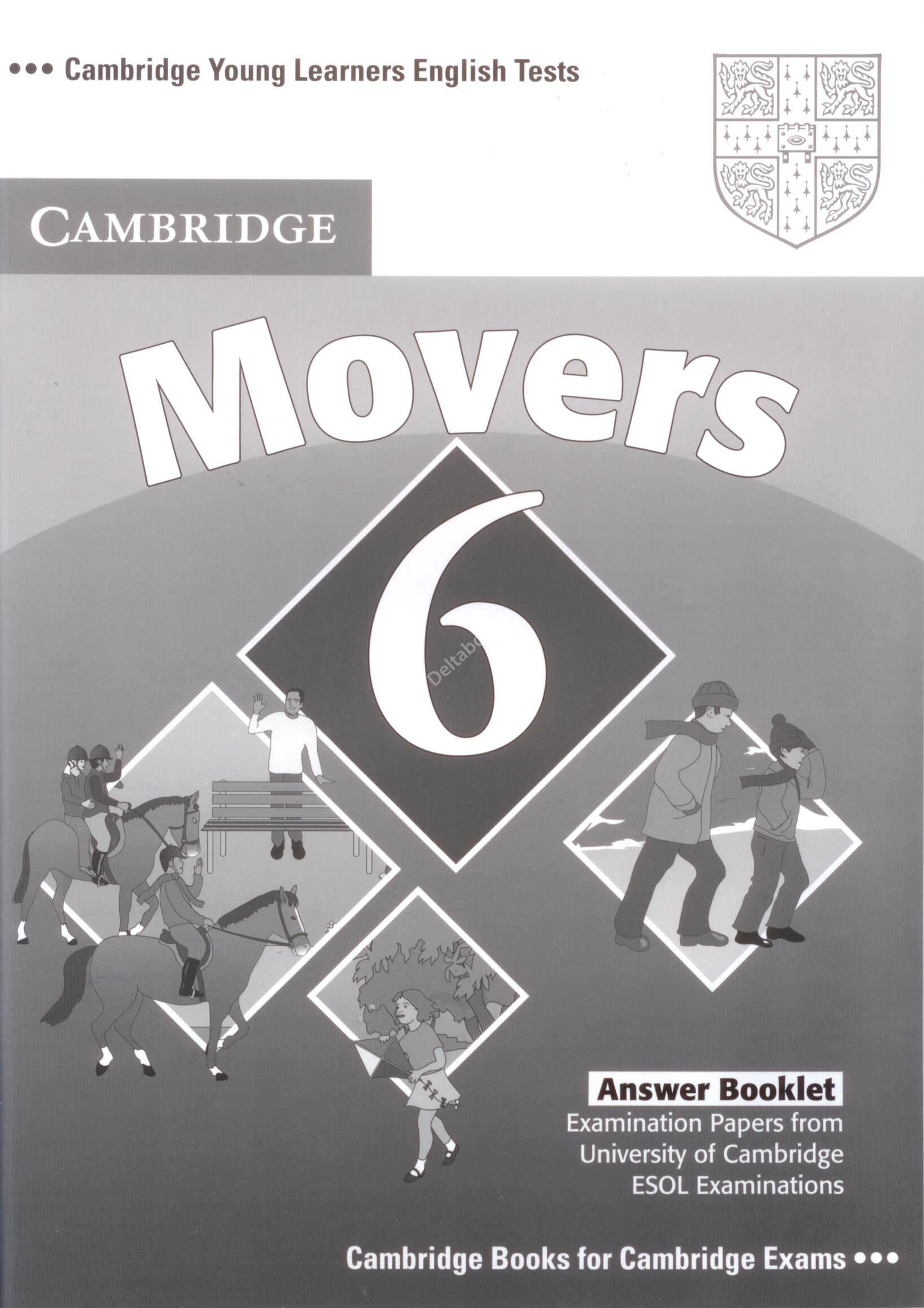 Cambridge Young Learners English Tests Movers 6  Answer  booklet   Ответы к учебнику