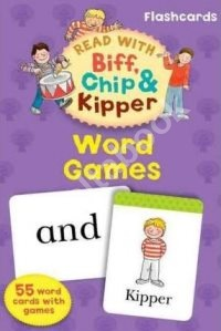 Read With Biff, Chip, and Kipper Flashcards: Word Games (55 cards)