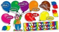 We Know Our Colors Mini Bulletin Board Set (27 cards)